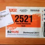 Startnummer B2RUN Dortmund