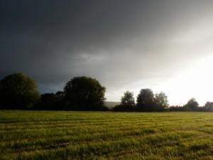 Heutigen Lauf vor dem Gewitter eingetütet