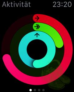 Zumindest das Stehziel (blauer Ring) ist erreicht
